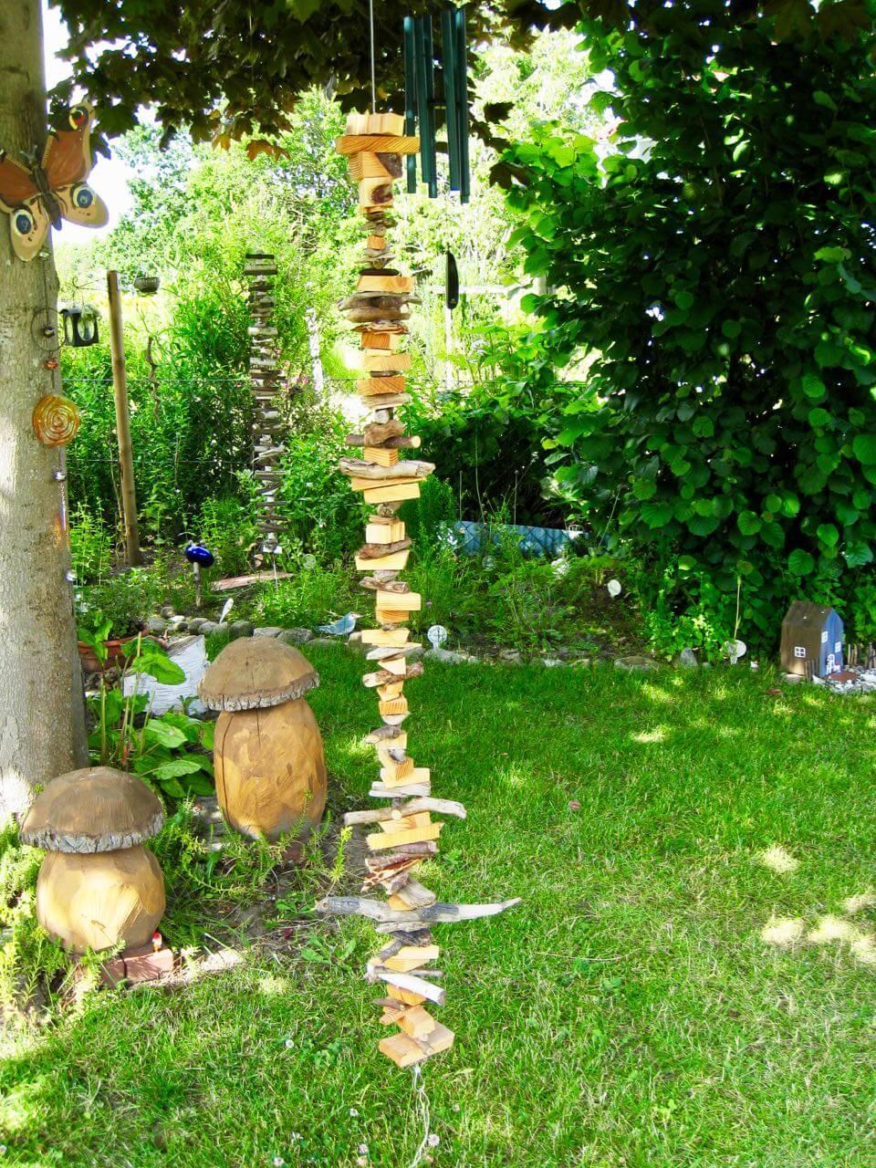 Hölzchenkette-im-Garten
