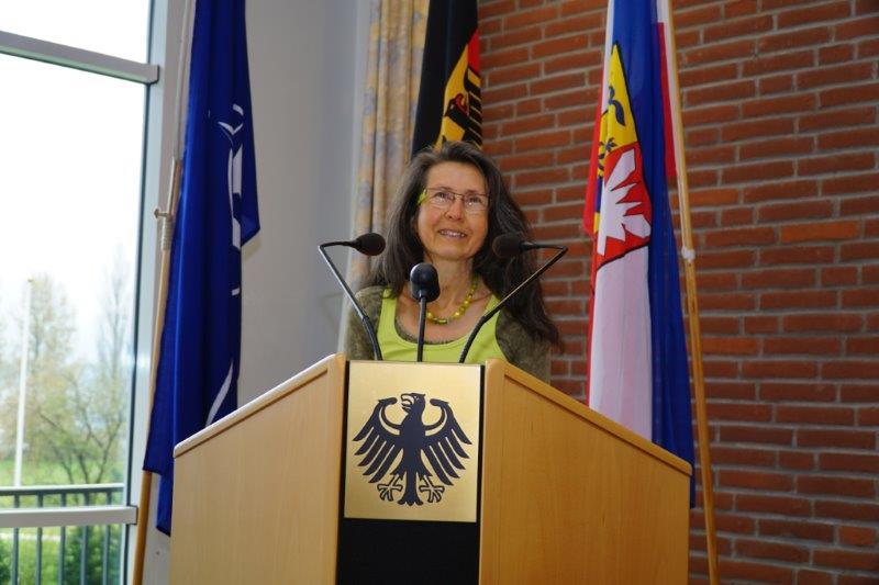 Gisela Wroblewski bei der Bundeswehr in Plön