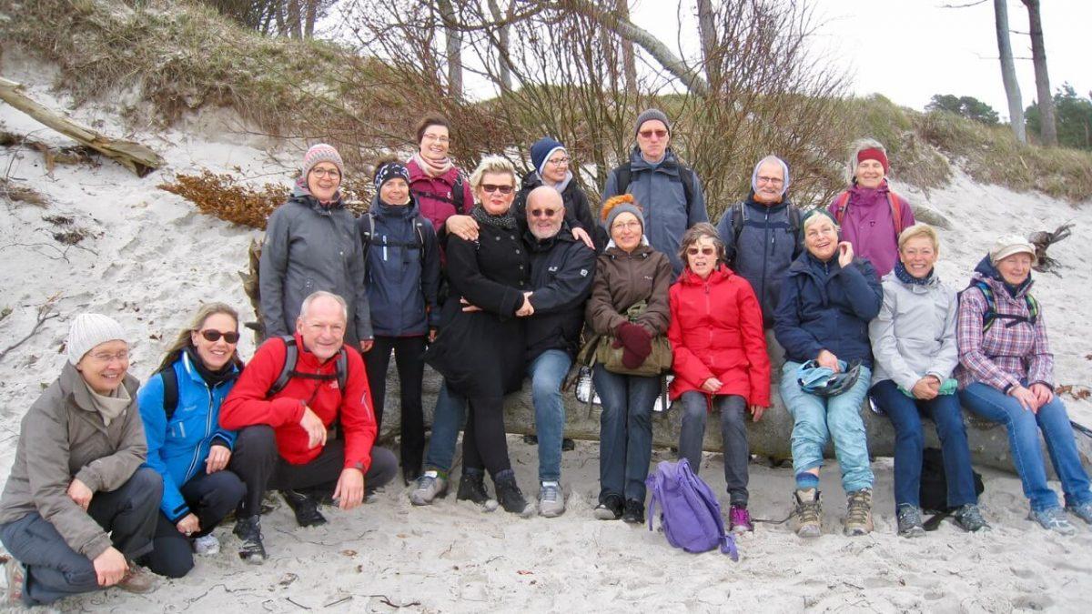 Gisela Wroblewskis Teilnehmergruppe an der Frischkostwoche in Prerow
