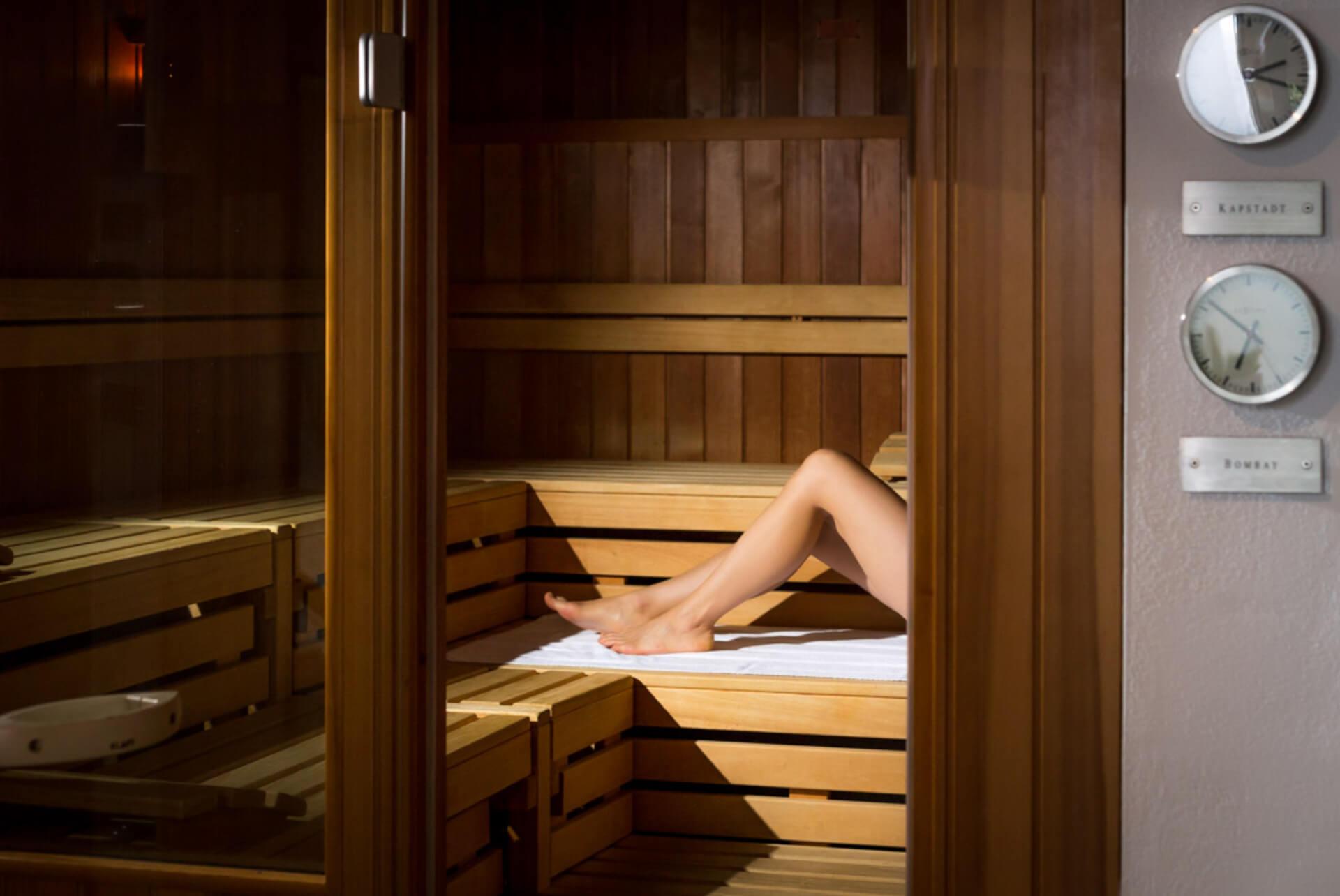 Entspannung in der Sauna im Hotel Carpe Diem in Prerow auf dem Darß