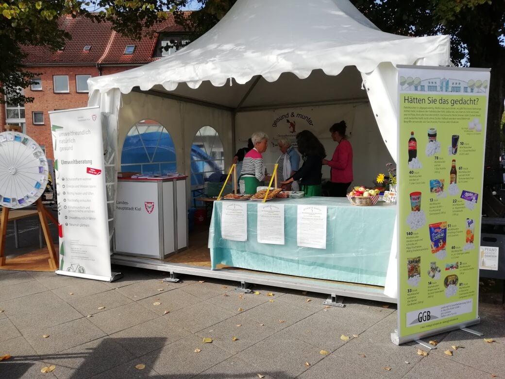 Der Stand von gesund und munter (g & m) beim Mobilitätsfest der Stadt Kiel
